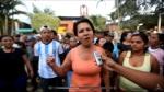 Esta es la mujer que fue asaltada, sacudida y golpeada. Aparece en el video explicando la razón de su reclamo ante la alcaldía de Nuevo Cuscatlán.