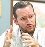Federico Hernandez,  escritor y director ejecutivo de la Cámara de Comercio