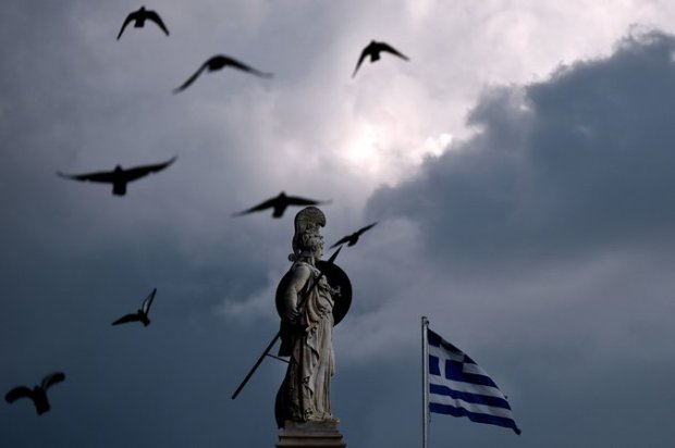 A statue of the goddess Athena in Athens. Greece is struggling to avert bankruptcy. Credit Aris Messinis/Agence France-Presse — Getty Images