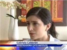 Gabriela Calderón es investigadora en el Cato Institut en Washington
