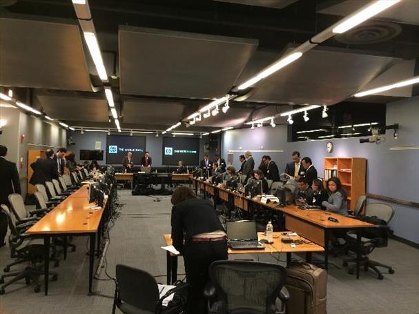 Esta es la sala de audiencias del Centro Internacional de Arreglo de Diferencias Relativas a Inversiones (Ciadi), con sede en el Banco Mundial en Washington, donde se ventila el conflicto entre la firma italiana Enel y El Salvador. foto edh / cortesía