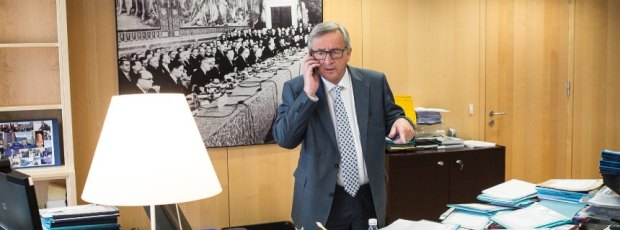 Jean-Claude Juncker , the president of the European Commission at his office in Brussels, Belgium on 17.06.2015 by Wiktor Dabkowski