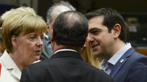 Las figuras claves: Tsipras, Merkel, Hollande
