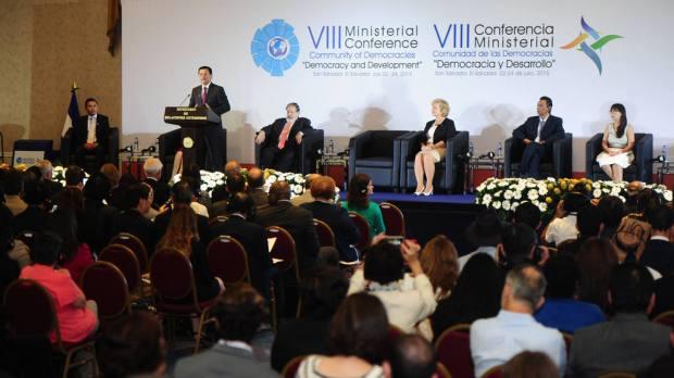 """VIII Conferencia Ministerial Comunidad de las Democracias, """"Democracia y Desarrollo""""."""