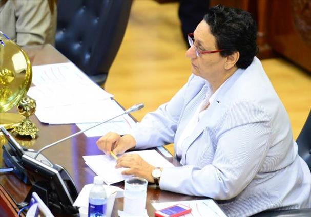 En la entrevista en la 102nueve, Lorena Peña criticó, entre otras cosas, a la Sala de lo Constitucional y le pidió que resuelva pronto y apegada a ley la demanda contra bonos. Foto EDH