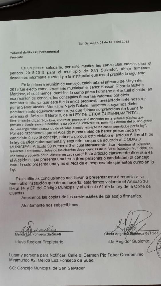 Las denuncias se presentaron ante el Tribunal de Ética Gubernamental y la Corte de Cuentas de la República. foto edh
