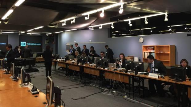 Sala de audiencias del Centro Internacional de Arreglo de Diferencias relativas a inversiones (CIADI) con sede en Washington