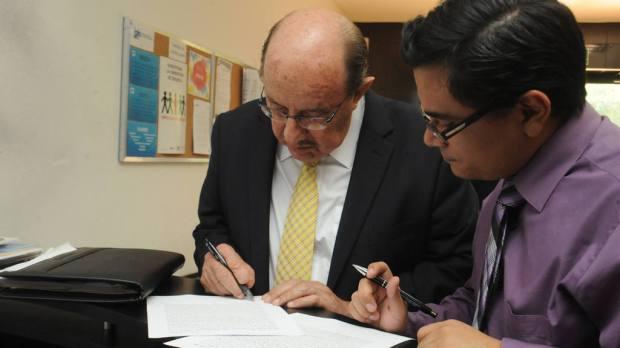 Mario Valiente, el día en que presentó su apelación ante el IAIP.