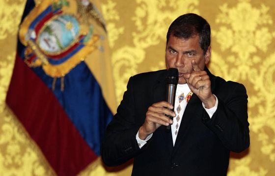 El presidente de Ecuador, Rafael Correa, en 2012. / JOSÉ JÁCOME (EFE)
