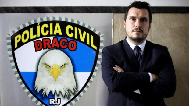 Alexandre Capote, en el Departamento al Crimen Organizado, en Río de Janeiro. G. ARANDA