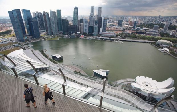 El distrito financiero de Singapur desde Skypark. / Sam Kang Li (Bloomberg)
