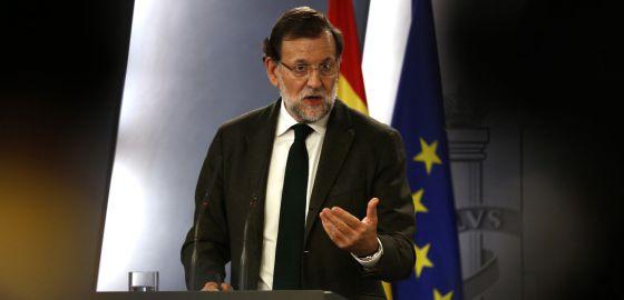 Mariano Rajoy, en La Moncloa, valora sus reuniones. / Luis Sevillano