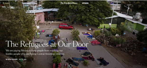 Hermanos en el Camino, an immigrant shelter in southern Mexico. Credit Katie Orlinsky for The New York Times
