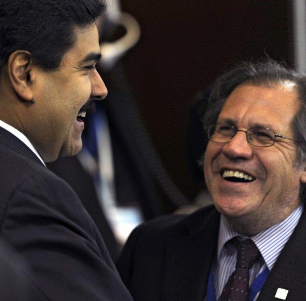 Nicolás Maduro, presidente de Venezuela, y Luis Almagro, secretario general de la OEA.