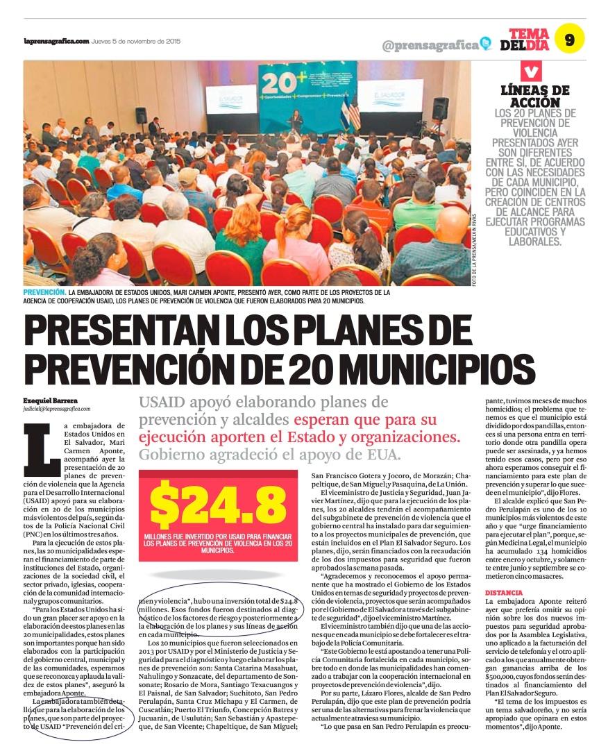 LPG20151105 - La Prensa Gráfica - PORTADA - pag 9
