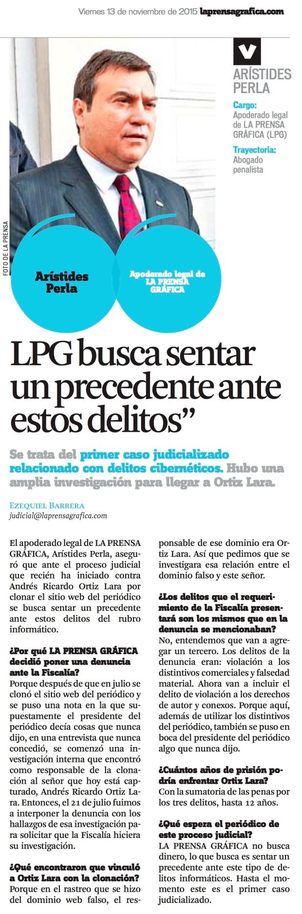 LPG20151113 - La Prensa Gráfica - PORTADA - pag 4