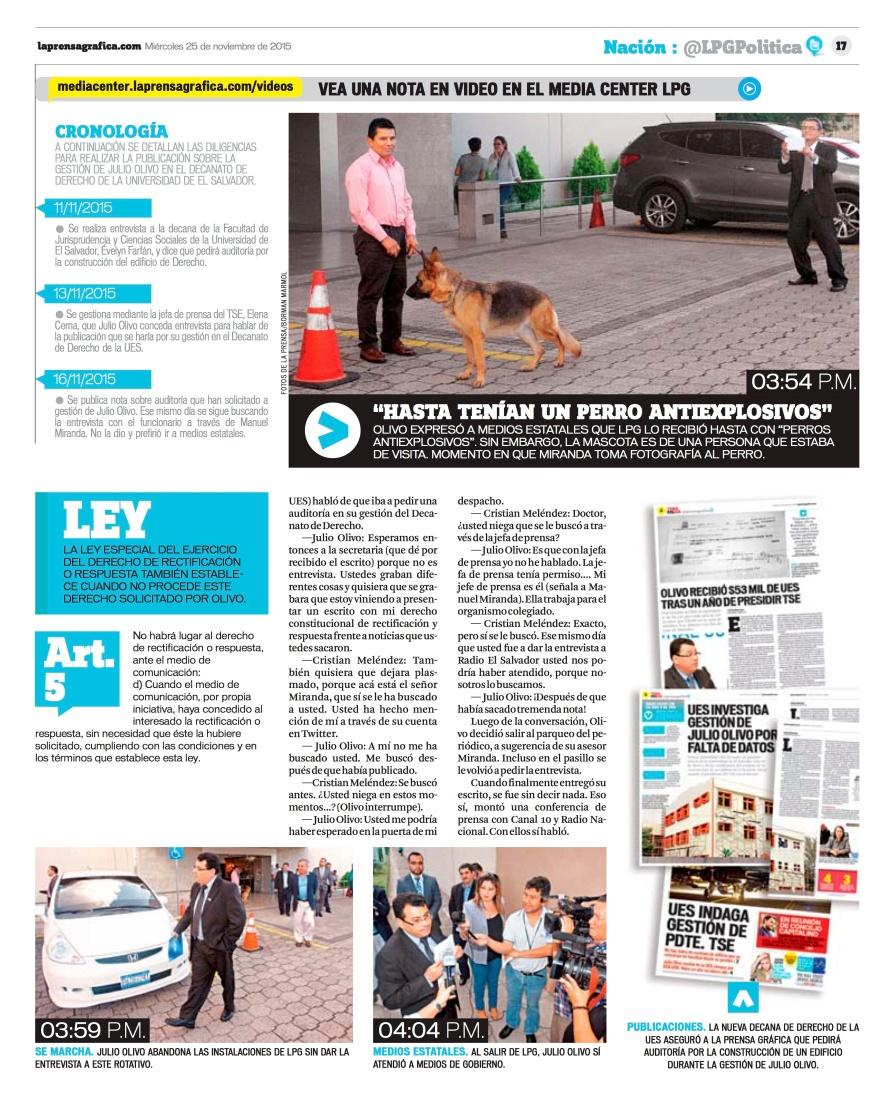 LPG20151125 - La Prensa Gráfica - PORTADA - pag 17