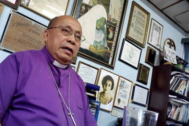 Medardo Gómez, obispo de la Iglesia luterana y presidente de la Iniciativa Pastoral por la Vida y la Paz. Foto Roberto Valencia.