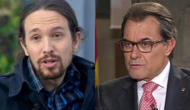 Pablo Iglesias, Artur Mas