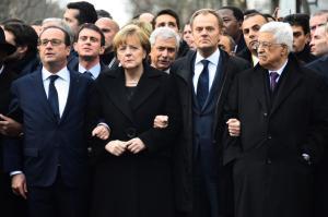 Marche republicaine contre le terrorisme et en hommage aux victimes des attentats contre Charlie Hebdo et le supermarche cacher