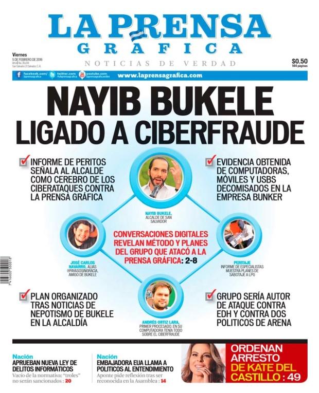 LPG20160205 - La Prensa Gráfica - PORTADA - pag 1