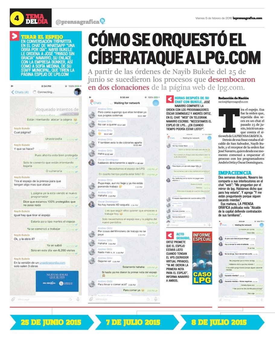 LPG20160205 - La Prensa Gráfica - PORTADA - pag 4