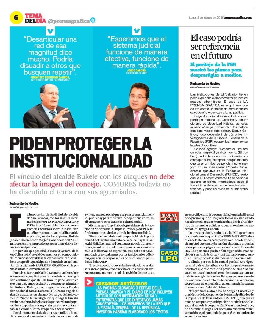 LPG20160208 - La Prensa Gráfica - PORTADA - pag 18
