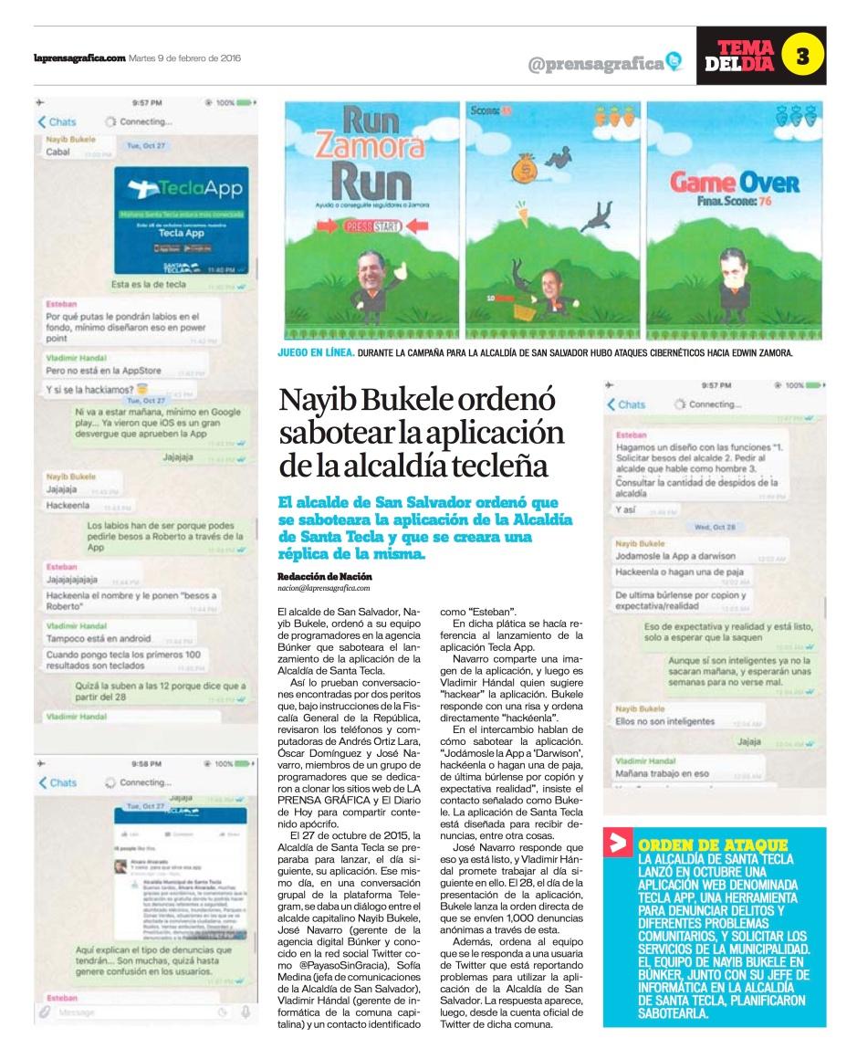LPG20160209 - La Prensa Gráfica - PORTADA - pag 3