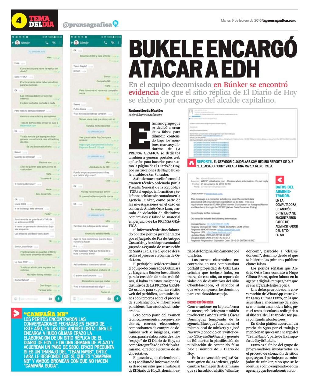 LPG20160209 - La Prensa Gráfica - PORTADA - pag 4