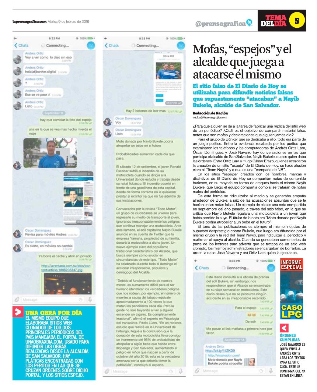 LPG20160209 - La Prensa Gráfica - PORTADA - pag 5