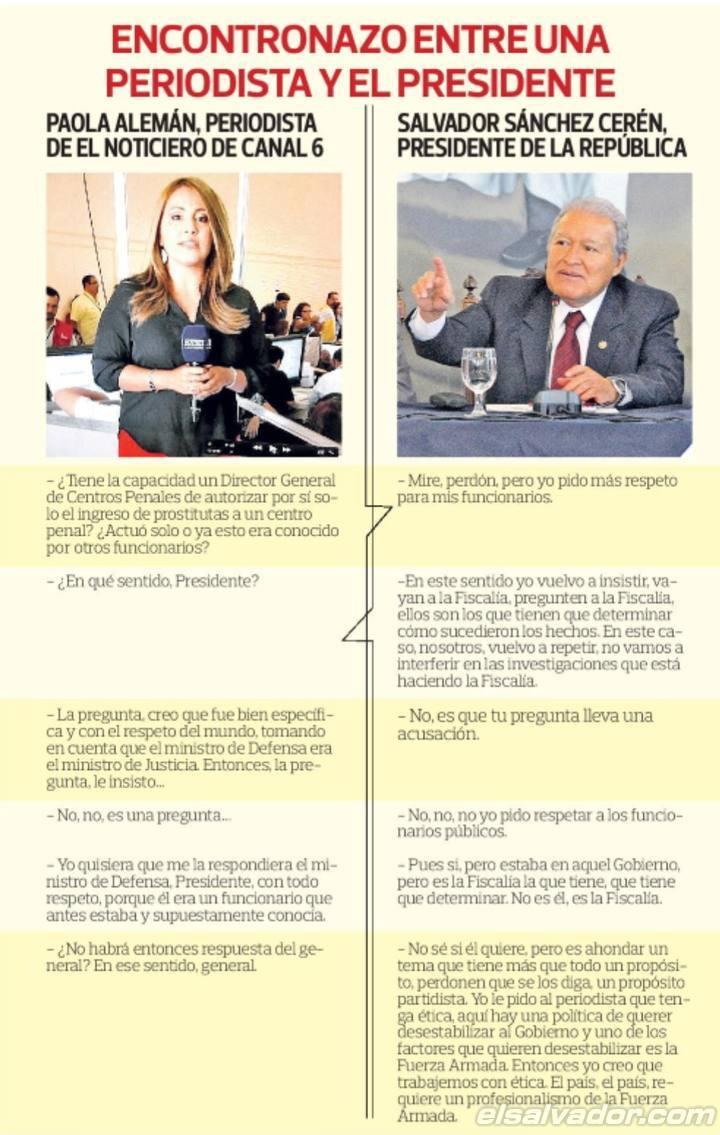 El intercambio entre el presidente y la eriodista de televisión Paola Alemán