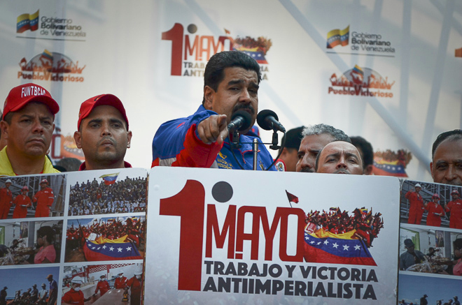 Marcha del gobierno en conmemoración del 1ero. de Mayo en Caracas