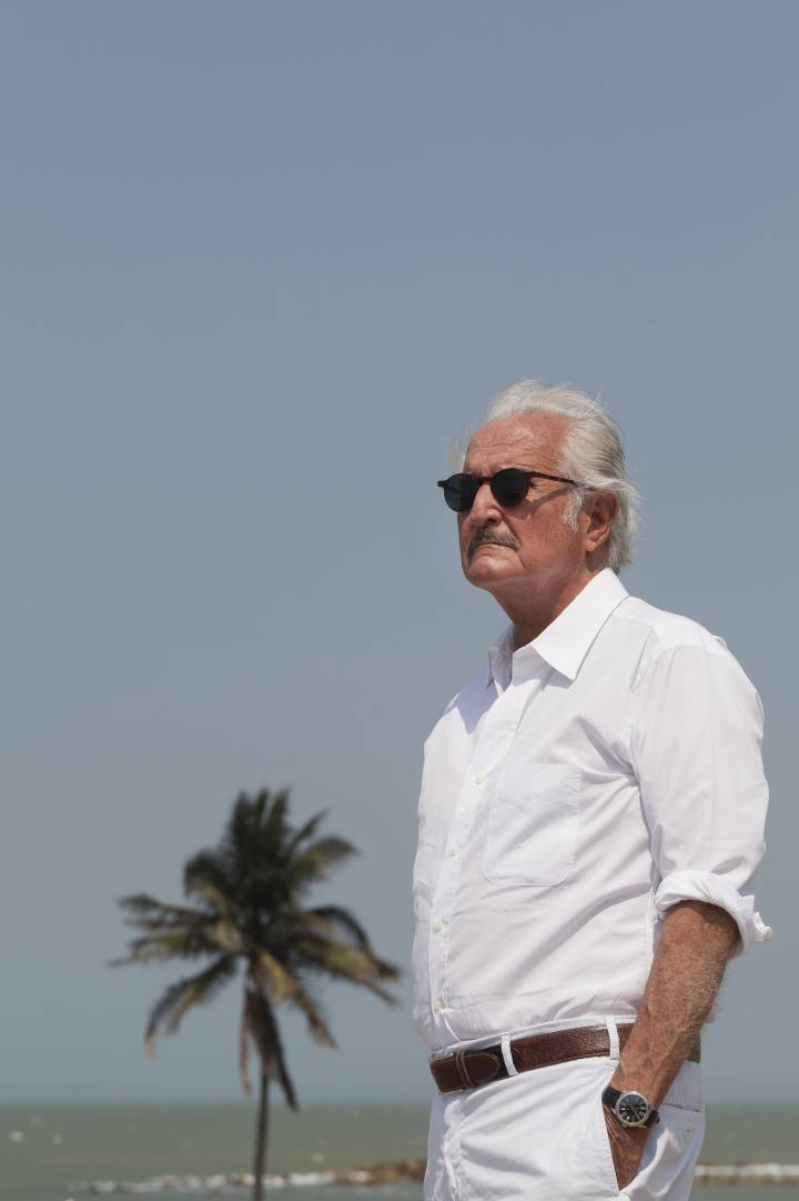 Carlos Fuentes, en Cartagena de Indias, en 2011. Daniel Mordzinski