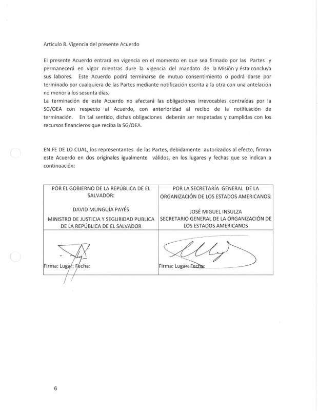 Acuerdo OEA-El Salv6