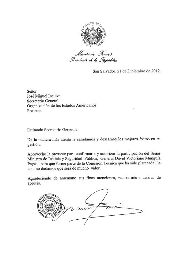 carta Funes a Insulza