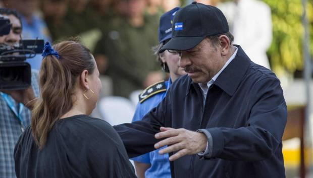 Daniel Ortega en un acto en Managua este jueves. Jorge Torres EFE