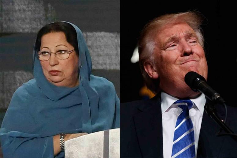 Ghazala Khan; Donald Trump. (Toni L. andys/Post; AP)