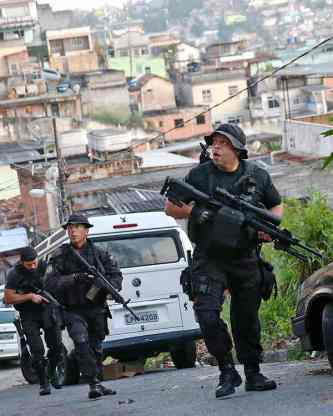 Both police officers and civilians have been injured in shootouts in Alemão. Photograph: Mario Tama/Getty