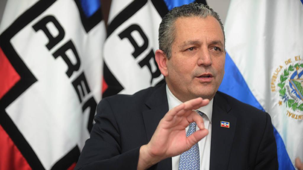 Edwin Zamora, concejal de la alcaldía de San Salvador, por el partido ARENA