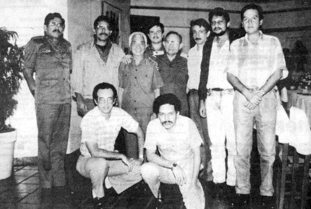 General Giap con dirección nacional del FSLN