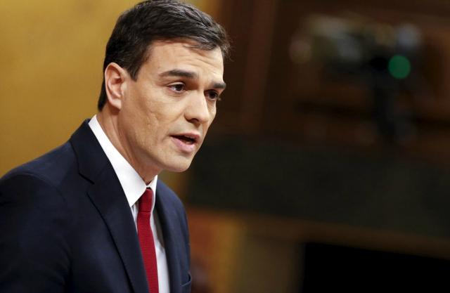 Pedro Sánchez, secretario general del PSOE. Fotografía de Sergio Perez. Reuters.