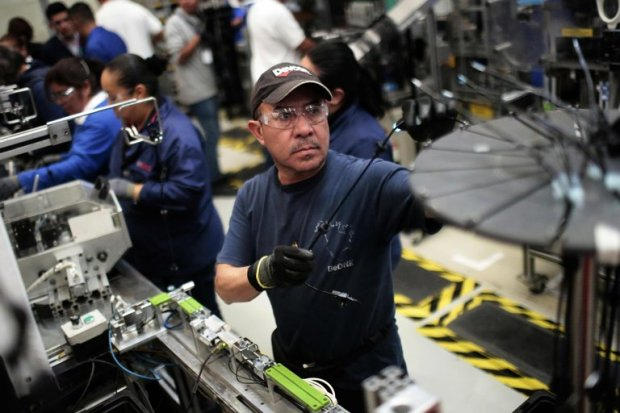 Workers on an auto parts production line in the Bosch factory this month in San Luis Potosí, Mexico. President Trump has threatened to impose a 35 percent tariff against Mexico. Credit Pedro Pardo/Agence France-Presse — Getty Images