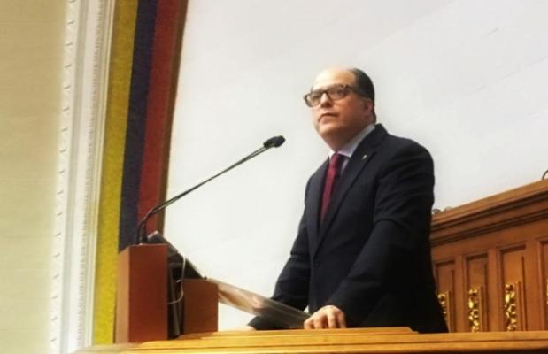 EL DIPUTADO JULIO BORGES, ASUMIENDO LA PRESIDENCIA DE LA ASAMBLEA NACIONAL