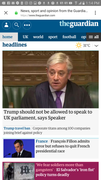 Frontpage The Guardian Online