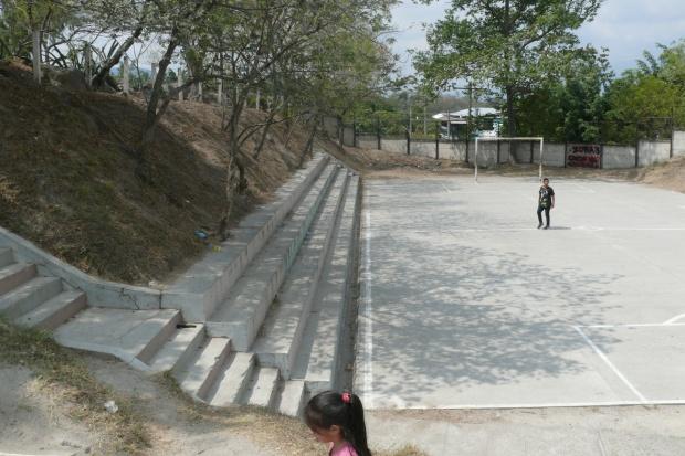 La cancha de fútbol rápido del Complejo Deportivo Altavista, donde Daniel Alemán fue capturado. Al momento de su captura había entre 30 y 40 personas.
