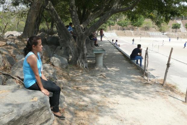 Meira Alemán, la madre de Daniel, en el Complejo Deportivo Altavista