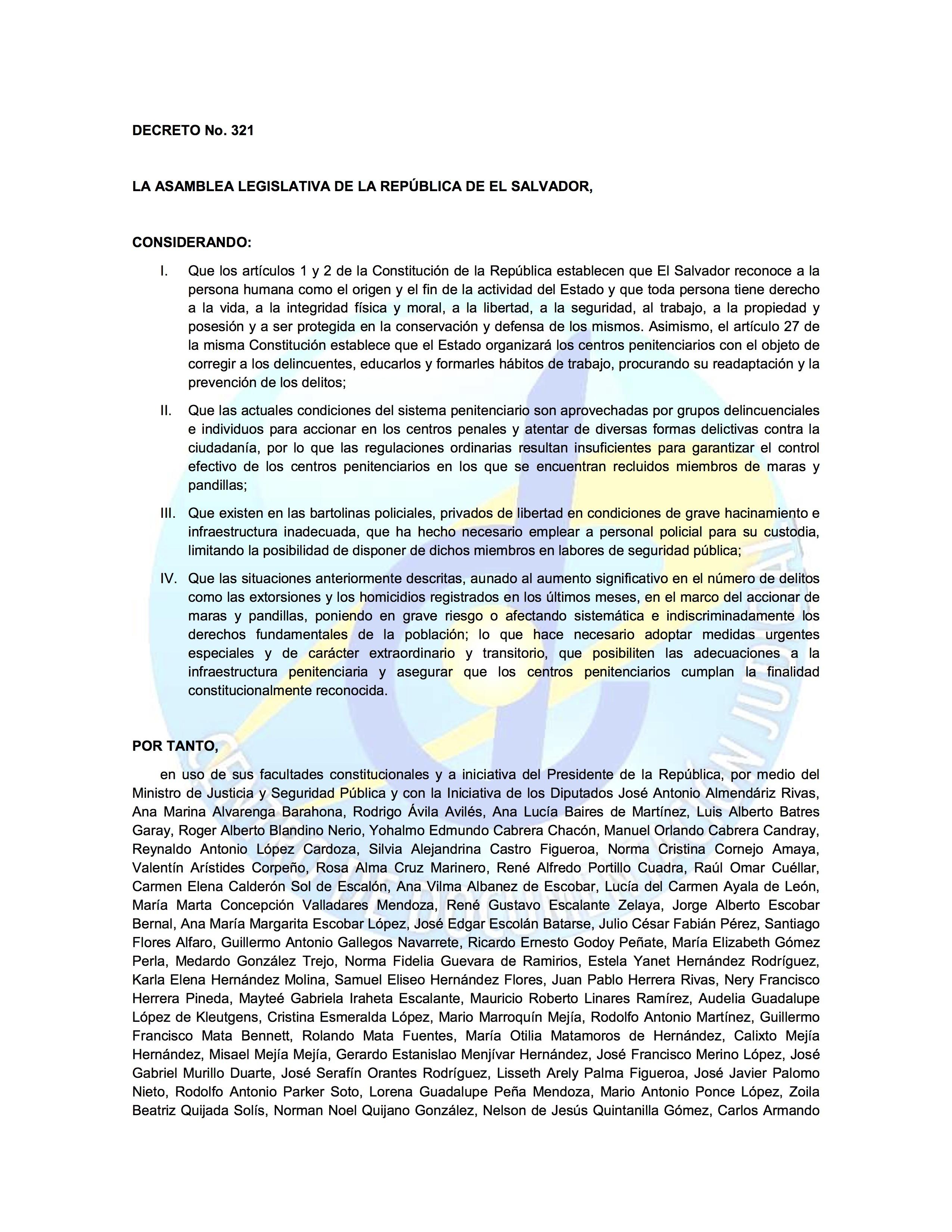 Penales segunda vuelta for Ley penitenciaria