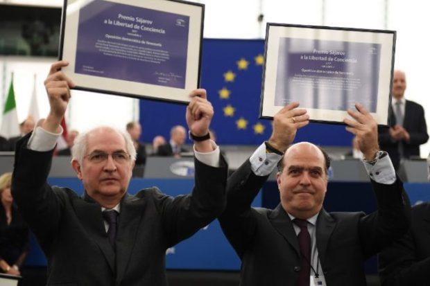 FRANCE-VENEZUELA-EU-PARLIAMENT-SAKHAROV-PRIZE